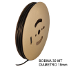 Guaina Termorestringente Nera 19mm - in Bobina da 30 MT