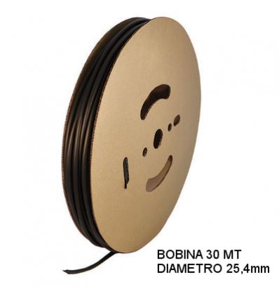 Guaina Termorestringente Nera 25,4mm - in Bobina da 30 MT