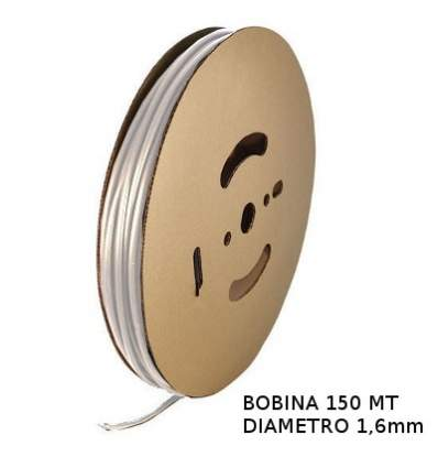 Guaina Termorestringente Trasparente 1,6mm - in Bobina da 150 MT