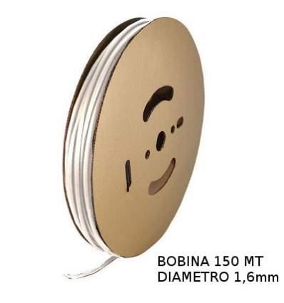 Guaina Termorestringente Bianca 1,6mm - in Bobina da 150 MT
