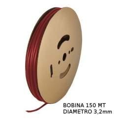 Guaina Termorestringente Rossa 3,2mm - in Bobina da 150 MT