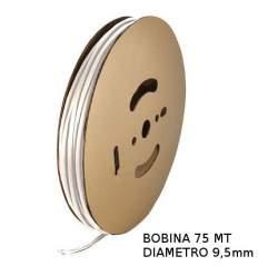 Guaina Termorestringente Bianca 9,5mm - in Bobina da 75 MT