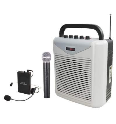 Diffusore amplificato con due radiomicrofoni