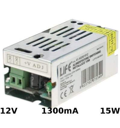 Alimentatore Switching 12V 1.3A 15W