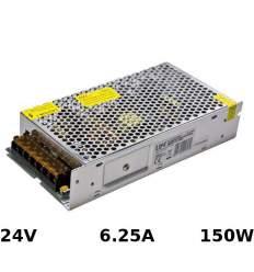 Alimentatore Metallo 24V 6.25A 150W con morsetti