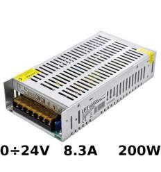 Alimentatore di metallo regolabile 0÷24V 8.3A 200W con morsetti