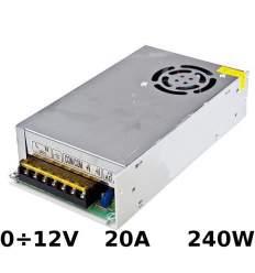 Alimentatore regolabile 0÷12V 20A 240W con morsetti