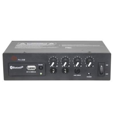 Amplificatore 12 V 20W con BT e ricarica USB