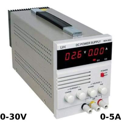 Alimentatore Professionale 0-5A e 0-30V