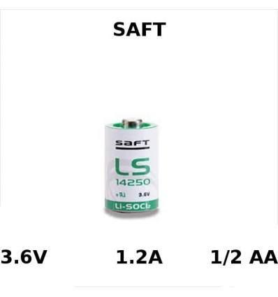 Pila Li-SOCL 1/2 AA 3.6V 1200MAH SAFT