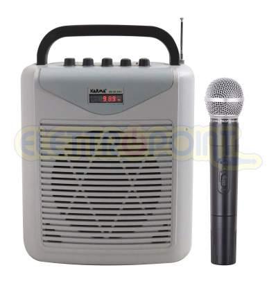 Diffusore amplificato con radiomicrofono