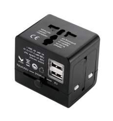 Adattatore elettrico universale con 2 USB